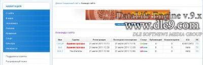 Модуль дле Вывод информации команды сайта DLE 9.3